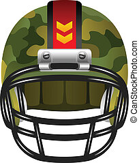 casco, football, camuffamento