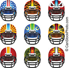 casco, football, set