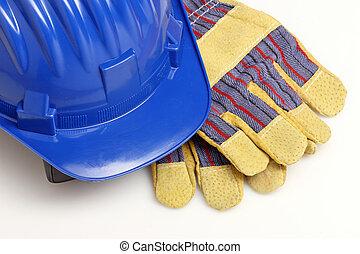 casco, guantes