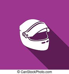 casco, icon., vettore, da corsa, illustrazione