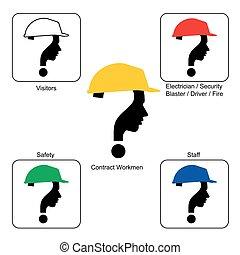 casco, -, luogo, colori, costruzione, sicurezza