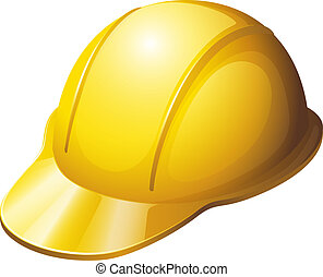 casco, seguridad, amarillo