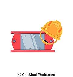 casco, sicurezza, costruzione, raggio metallo
