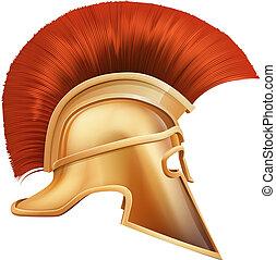 casco, spartan, ilustración