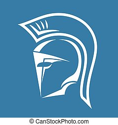 casco, spartan, simbolo