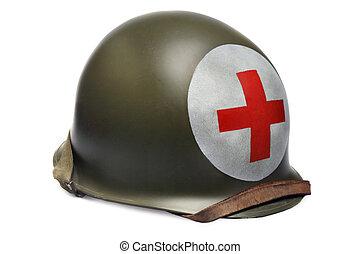 casco, stile, combattimento, ii, mondo, guerra