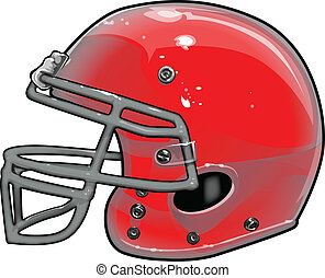 casco, vettore, illustrazione, football