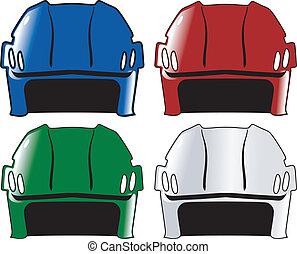 cascos, conjunto, hockey
