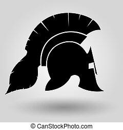 cascos, spartans, silueta