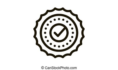 case approval Icon Animation. black case approval animated icon on white background