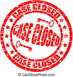 Case closed - Stamp with text case closed inside, vector...