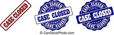 CASE CLOSED Grunge Stamp Seals