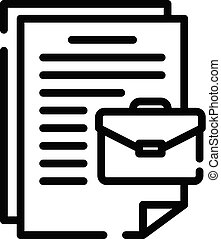 Case document icon, outline style
