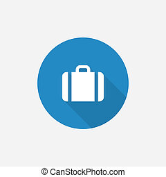 Case Flat Blue Simple Icon with long shadow
