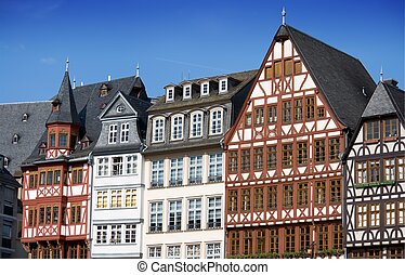 case, francoforte, mezzo-costruito legno