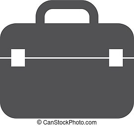 Case icon in black on a white background. Vector illustration
