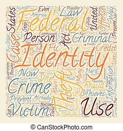case law identity theft text background wordcloud concept