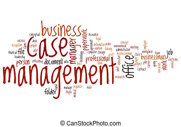 Case management word cloud