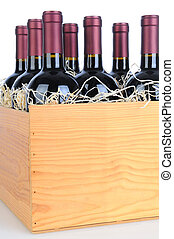 Case of Cabernet Wine - Cabernet Sauvignon wine bottles in a...