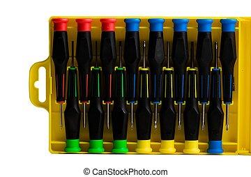 Case of various screw dri