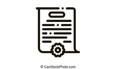 case parsing Icon Animation. black case parsing animated icon on white background