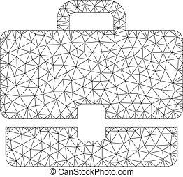 Case Polygonal Frame Vector Mesh Illustration - Mesh case...