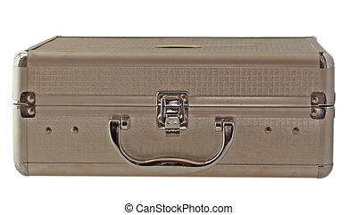 Case - A little metal case isolated over white