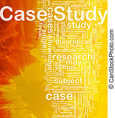 Case study background concept - Background concept wordcloud...