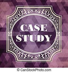Case Study Concept. Vintage Design Background.