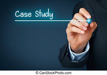Case study heading - background template for business presentation.