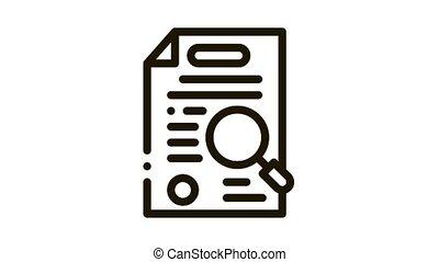 case study Icon Animation. black case study animated icon on white background