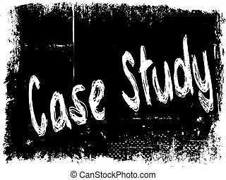 CASE STUDY on black grunge background.