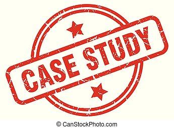 case study round grunge isolated stamp