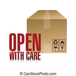 case stylique, ouvert, illustration, soin