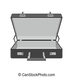case., viaje, ilustración, vector, suitcase., vacío
