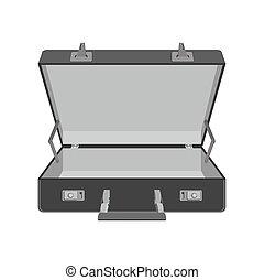 case., voyage, illustration, vecteur, suitcase., vide