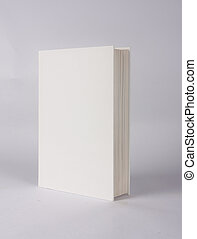 hard back book ready for graphic design, on grey background