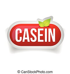 Casein button or pill - Fitness supplement