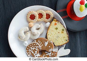 caseiro, biscoitos, com, muffin