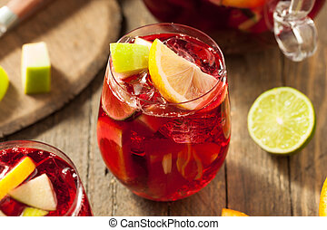 caseiro, fruity, espanhol, vermelho, sangria