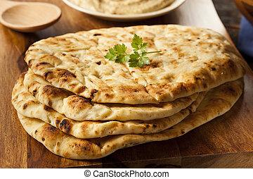 caseiro, indianas, naan, flatbread