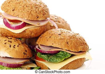 caseiro, sanduíches
