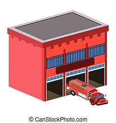 caserma dei pompieri, isolato