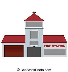 caserma dei pompieri, vettore