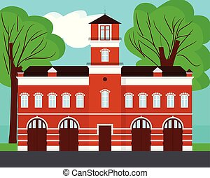 Illustrations de Caserne pompiers. 7 137 images clip art ...