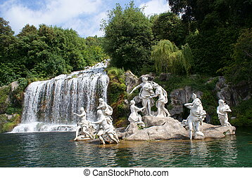 Caserta Royal Palace - Italy, Caserta, Statue of Diana in...