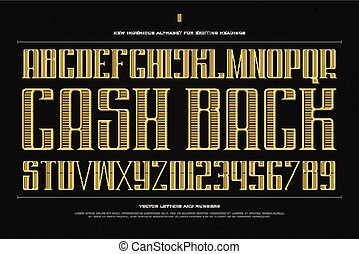 cash back - vintage money alphabet letters and numbers....