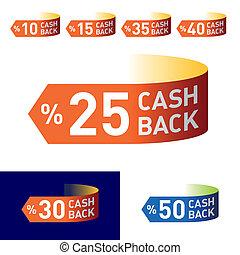 cash-back, embleem