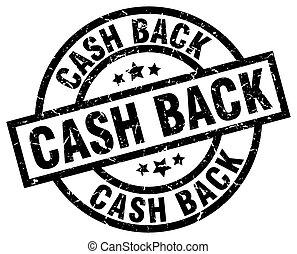 cash back round grunge black stamp
