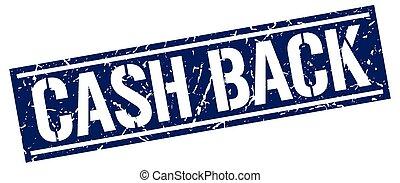 cash back square grunge stamp